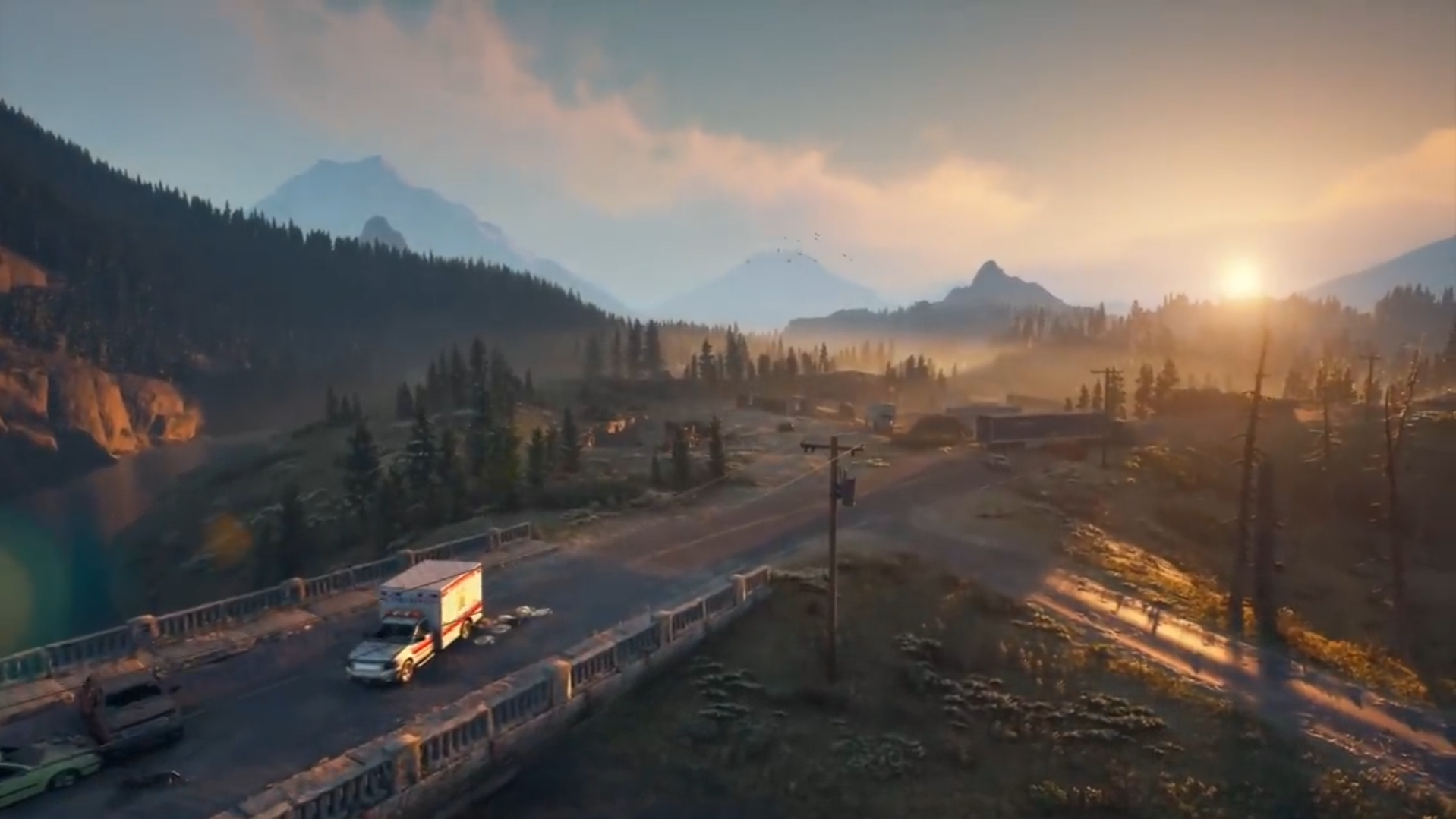 Beautiful Game Landscape from Days Gone
